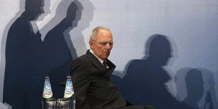 German Finance Minister Wolfgang Schaeuble arrives at a Greek-German industry and trade chamber meeting in Athens. Greek police have banned protests and traffic in downtown Athens during a visit by Schaeuble, whom many accuse of forcing painful cuts on Greece in return for the multi-billion euro bailouts keeping it afloat.  (ICON/Reuters photo)